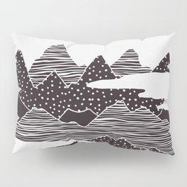 Mountain Peaks Digital Art Pillow Sham
