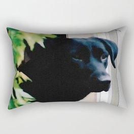 Black Lab Rectangular Pillow