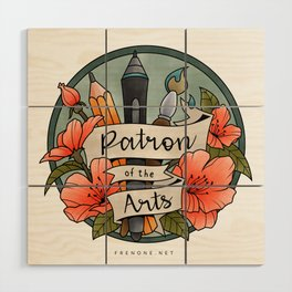 Patron of the Arts Wood Wall Art