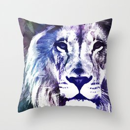 Purple Lion Throw Pillow