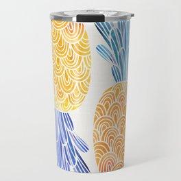 BFFs / Pineapple Watercolor Collage Travel Mug