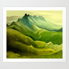 The Pinnacles Art Print