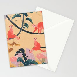 Lemurs in the jungle Stationery Cards
