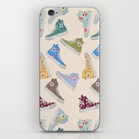 converse iPhone & iPod Skins featuring Converse  by SarahBoltonIllustration
