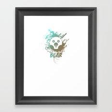 Bear | Zoo serie Framed Art Print