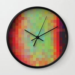 Digital Patchwork: Spot Study Inverted Wall Clock
