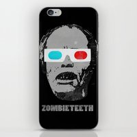 gore iPhone & iPod Skins featuring Bubs 3D Zombie Gore-athon by Iamzombieteeth Clothing