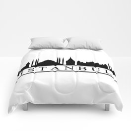 skyline istanbul Comforters