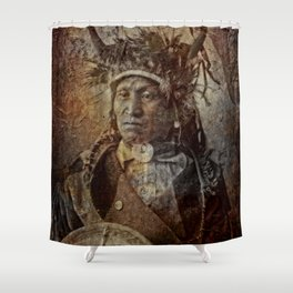Assiniboine Chief Shower Curtain