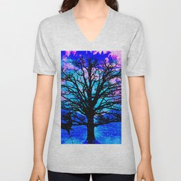 TREE ENCOUNTER Unisex V-Neck