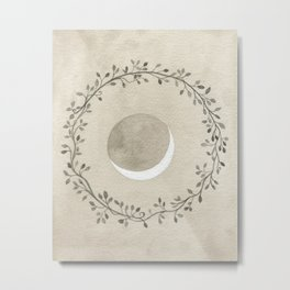 Crescent and Wreath Metal Print