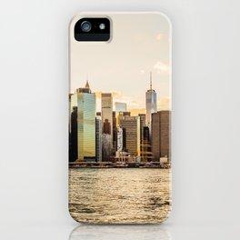 New York skyline at sunset iPhone Case