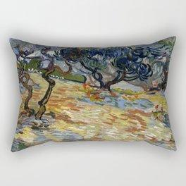 "Vincent Van Gogh ""Olive Trees"" Rectangular Pillow"