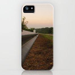 Life Down a Guard Rail iPhone Case