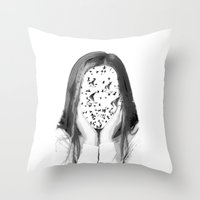 dreamer Throw Pillows featuring Dreamer by infloence