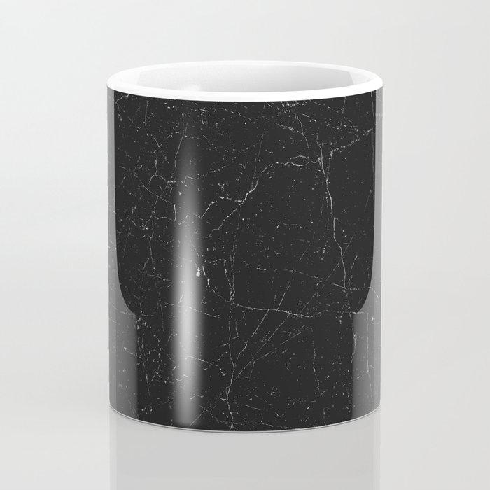 Black distressed marble texture Coffee Mug