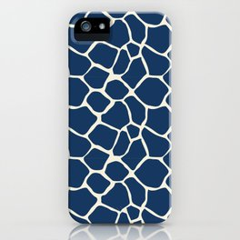 Giraffe Pattern Animal Print (navy) iPhone Case