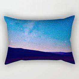 distant milky way galaxy at night beautiful night sky shooting star Rectangular Pillow