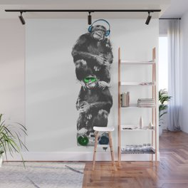 Monkey Music Retro Boombox. Wall Mural