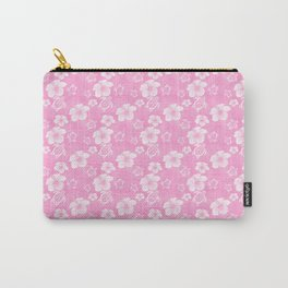 Soft Pink Hibiscus Turtle Hawaiian Pattern Carry-All Pouch