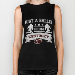 Just a Baller from Kentucky Football Player Biker Tank