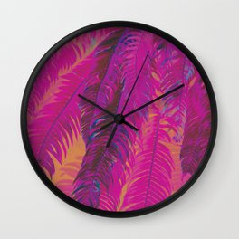 Frolic In The Fronds Wall Clock