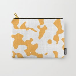 Large Spots - White and Pastel Orange Carry-All Pouch
