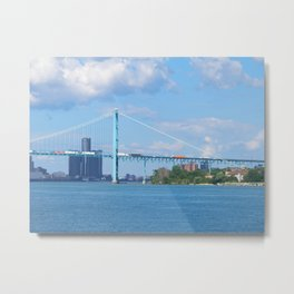 Detroit River Bend Metal Print