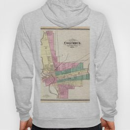 Map of Columbus 1872 Hoody