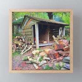 Rainbow Logs Framed Mini Art Print