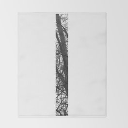 Minimal Letter I Print With Photography Background Throw Blanket