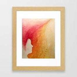 the girl who caught fire Framed Art Print