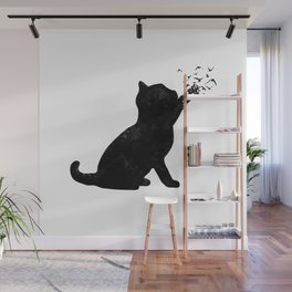 Poetic cat Wall Mural