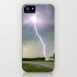Close Call - Lightning Strike in Kansas Storm iPhone Case