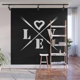 Valentine's day . Love .2 black Wall Mural