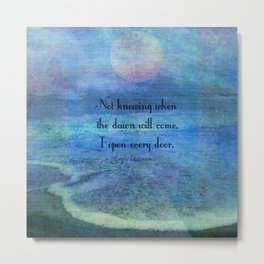 Emily Dickinson hope quote Metal Print