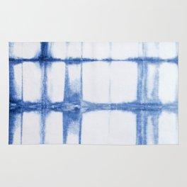 Shibori Blue - Rectangles Rug