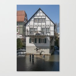 House in the water fisher quarter Ulm - Germany Canvas Print