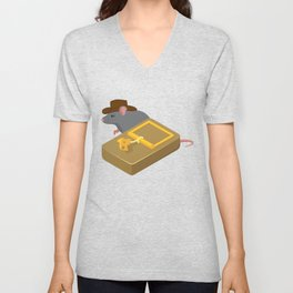 Indiana mouse cheese mousetrap movie quote gift Unisex V-Neck