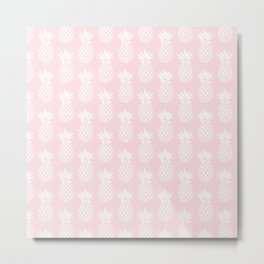 Cute & elegant pineapple pattern Metal Print