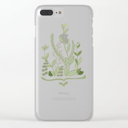 Green Plants in Nature Clear iPhone Case