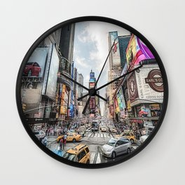 Times Square Traffic (digitally painted) Wall Clock