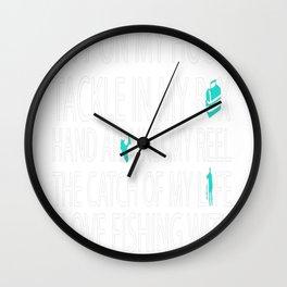 Love Fishing With My Husband Wall Clock