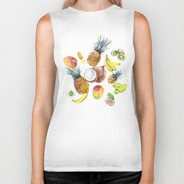 Tropical Fruits, Pina Colada, Fruit Punch tropical design Biker Tank