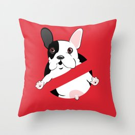 Lil Stam Busters French Bulldog Throw Pillow