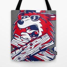 Old School Bear Tote Bag