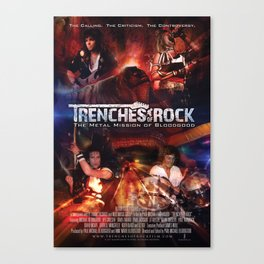Trenches of Rock: Official Movie Poster / Art / Mugs / Phone Cases, etc. Canvas Print