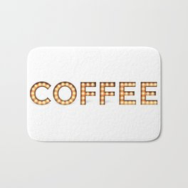 COFFEE IN LIGHTS! Bath Mat