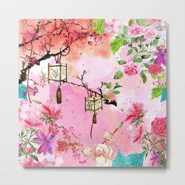 Oriental Garden Metal Print