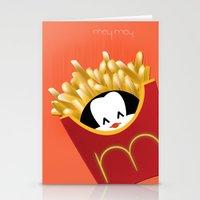 potato Stationery Cards featuring potato chips by Raimondo Tafuri